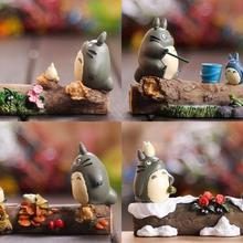 4 сезона Тоторо и друзья на ветке, сказочные Садовые принадлежности миниатюрные, студия Ghibli Succulent Terraium DIY аксессуары