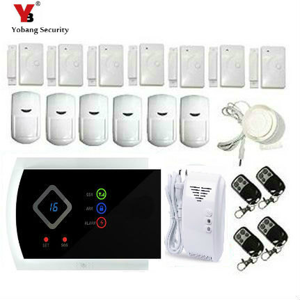 YobangSecurity Wireless GSM SMS Home Burglar House Smoke Detectors Fire Alarm System Auto Dialer Russian Spanish Italian Slovak стоимость