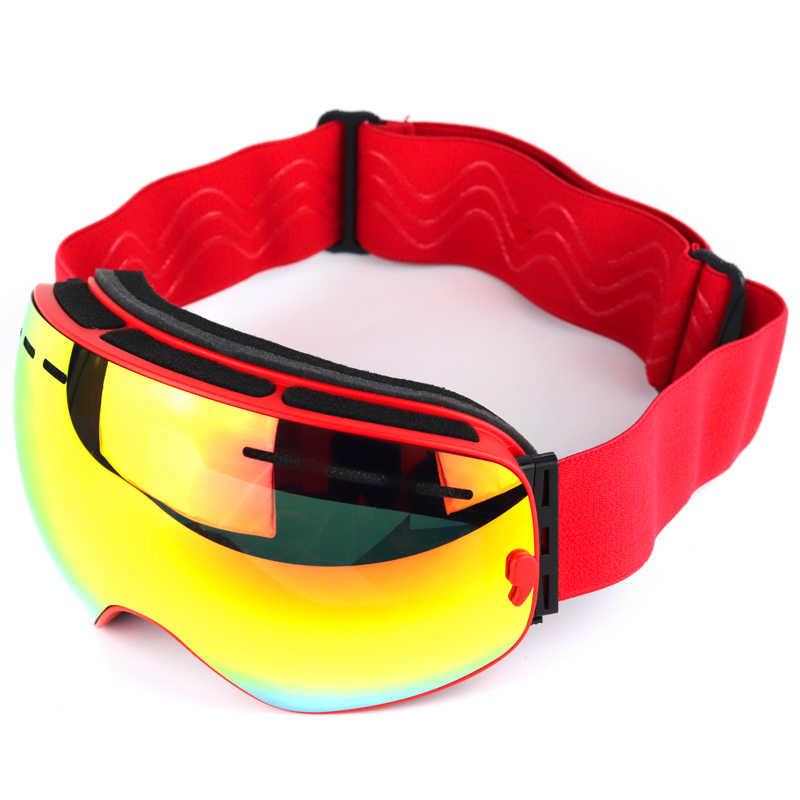 BOLLFO marka kayak gözlükleri çift katmanlı UV400 anti-sis kayak maskesi kayak gözlük erkekler kadınlar snowboard gözlüğü kar ar