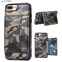 Cool Army Camouflage Case For IPhone 5 7plus 6 6plus Kickstand Card Slot Cover For SamsungS6