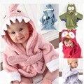 Envío libre lindo diseños de dibujos animados bebé albornoz con capucha para bebé towel de comercio exterior de los niños toallas de baño