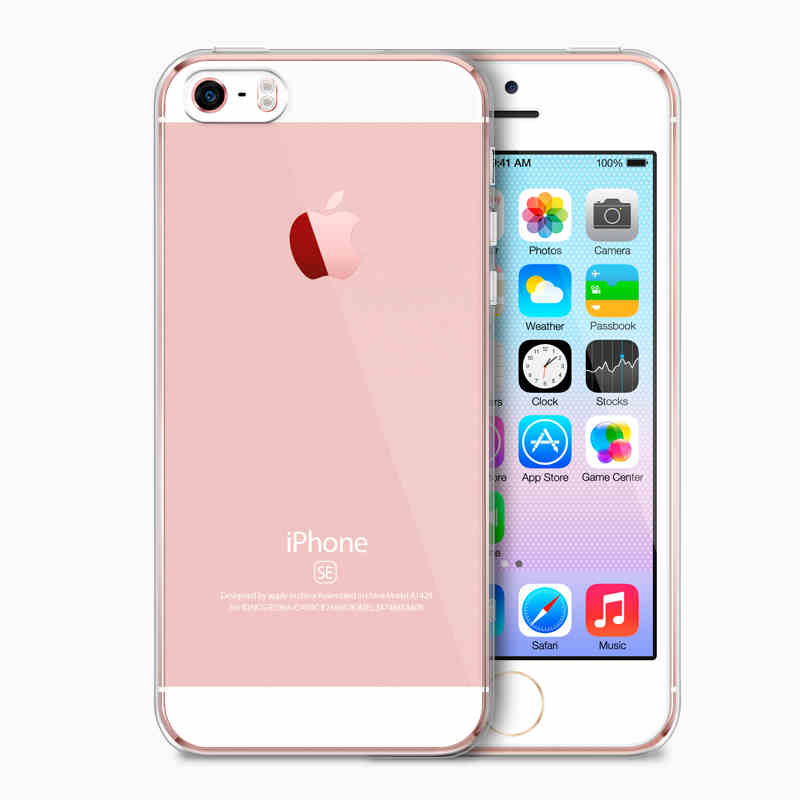 Esamday ultra thin tpu soft gel transparente original de case para apple iphone