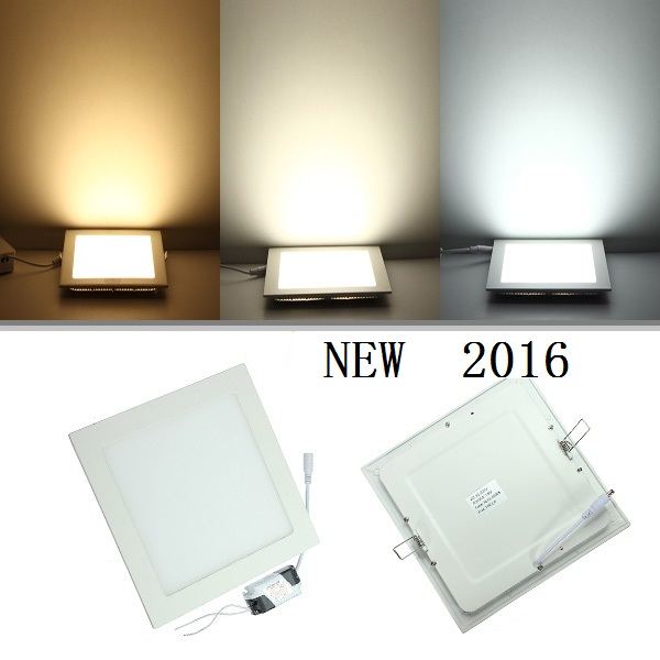 25 Watt Square LED Ceiling Light Recessed Kitchen Bathroom Lamp AC85 265V  LED Down Light