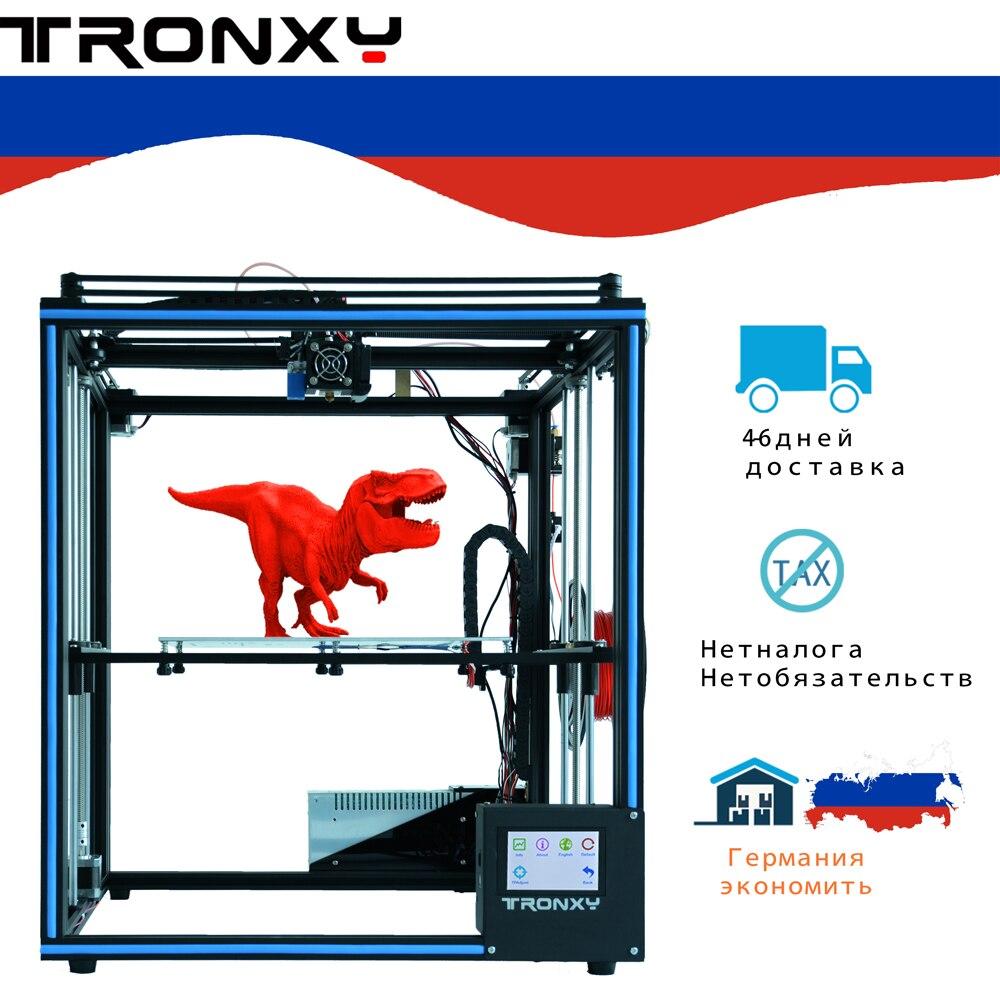 2019 Mais Novo projeto Tronxy X5SA com tela sensível ao toque de Alta Precisão nível de Auto DIY kit Impressora 3d impressão de metal Cheia Grande tamanho