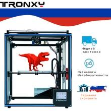 2019 nouvelle conception Tronxy haute précision X5SA avec écran tactile niveau automatique bricolage 3d imprimante kit complet en métal grande taille d'impression