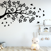 Diy tree and birds Vinyl Kitchen Wall Stickers Wallpaper Decor Living Room Bedroom Removable Home Party Decor Wallpaper removable diy home decor christmas tree wall stickers