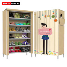 Magic Union 3D Cartoon Shoes Cabinet Multi Purpose Dust Proof Shoe Shelves  Shoe Organizer Rack Children Toy Storage Shelf