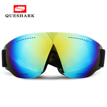 Queshark Professional Snowboarding Ski Goggles Kids Men Women Anti fog Gafas Motocross Skiing Eyewear Snow Ice