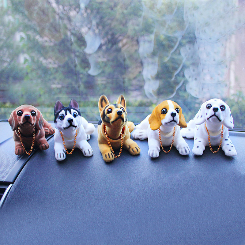 Kayme Bobble pea koera auto armatuurlaud nukk auto loksutades pea - Auto salongi tarvikud - Foto 2