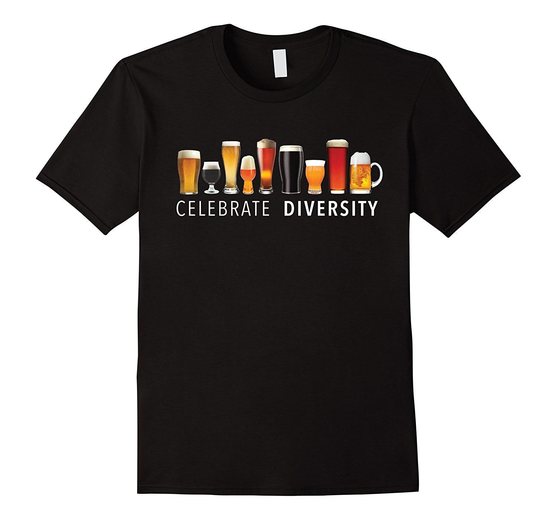 Celebrate Diversity Craft Beer Drinking T-Shirt