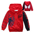 Spring Spiderman boys Coat Children Hooded Kids spider-man cartoon Outerwear cotton Jacket Hoodies clothes For 1 2 4 6 8 10 Yrs