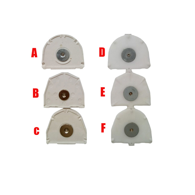 20pcs Dental Laboratory Semicircle Hexagonal shape Plastic Plate with iron Disposable Magnetic Base reused On Pin Drill Unit