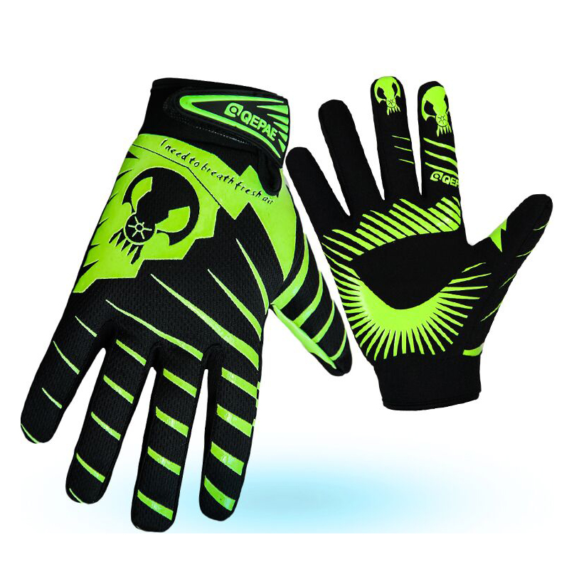 QEPAE New Bike Gloves Team Road Cycling Glove Windproof Riding Bike Bicycle Long Finger Gloves Outdoor Sportswear Glove
