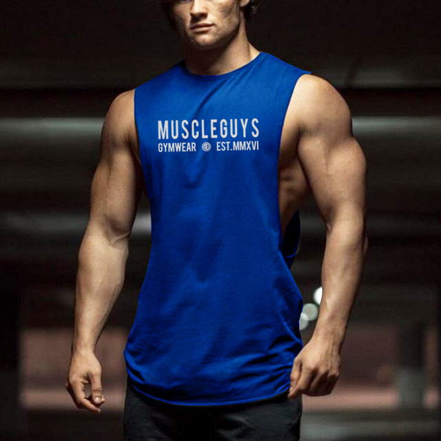 0a54eff96807 Brand Cut Out Gyms Clothing Singlet Canotte Bodybuilding Open Side Tank Top  Men Fitness shirt Muscle Guys Sleeveless Vest