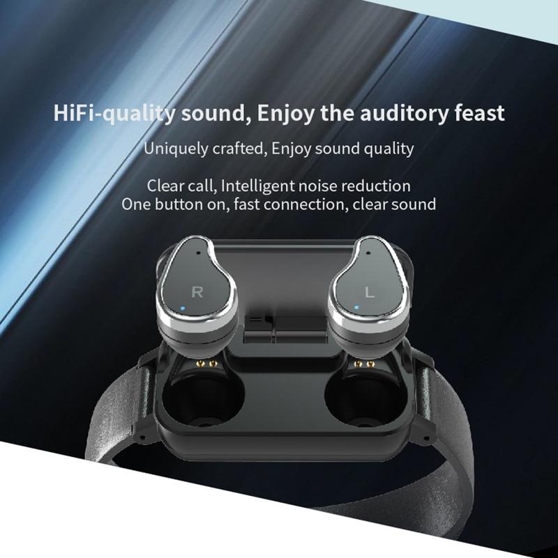 Fentorn Smart Dual Headphone T89 Heart Rate Sport Smart Watch Men Bluetooth Music earphone Waterproof Smartwatch Standby 15 days