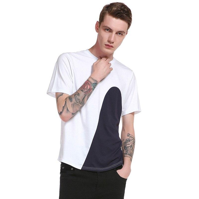 2017 Summer T-shirt Men's Clothing Sexy Fashion O-neck Hip Hop Short Sleeves Homme T Shirt Casual Men Navy Tees Tops 13B115