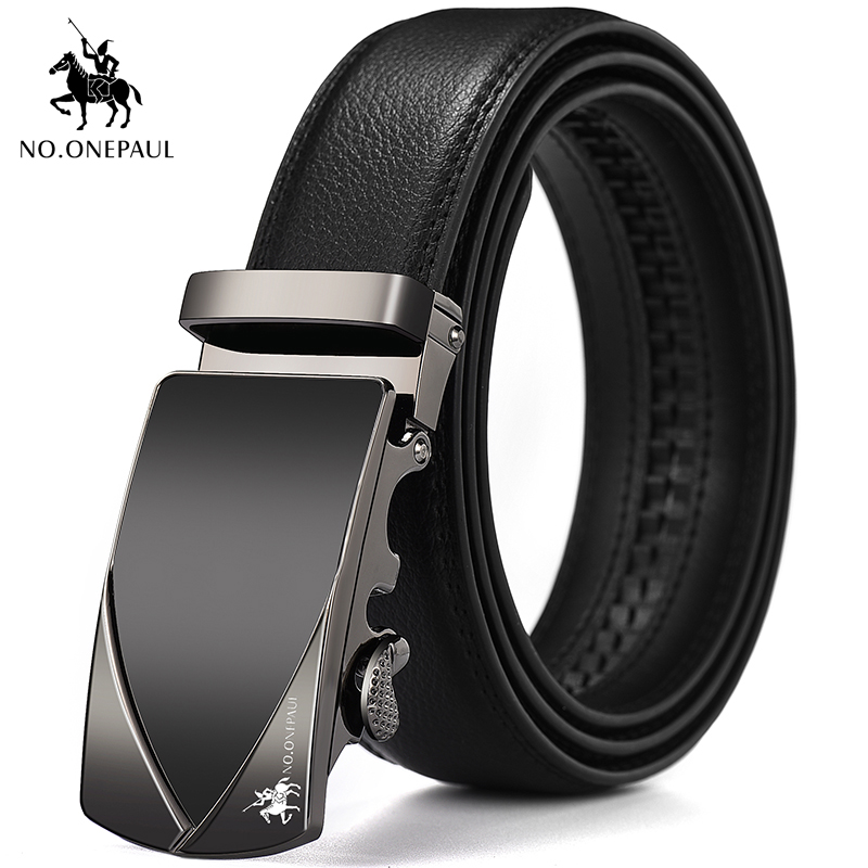 NO.ONEPAUL Men's New Belt Designer Design New Exclusive Appearance Buckle Pure Leather Student Jeans With Belt Youth Favorite