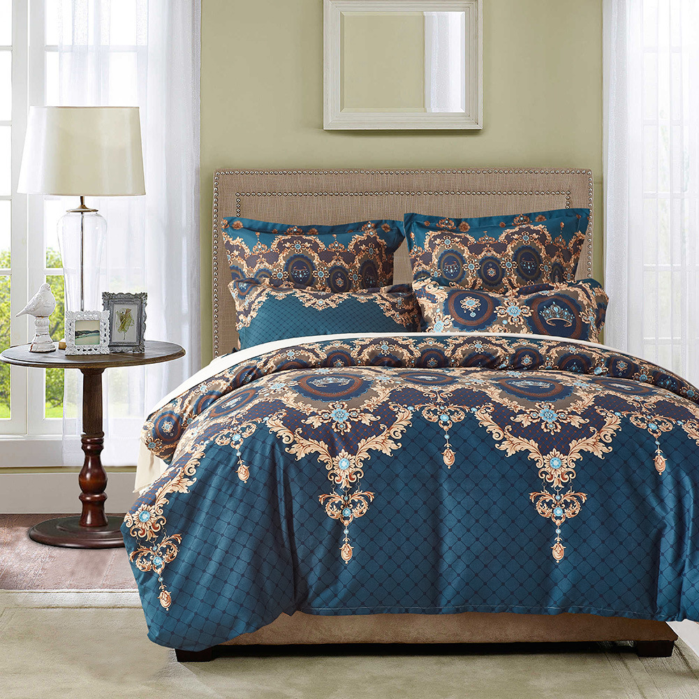 Standard American Size Home Textile 2 3pcs/set Duvet Cover set Sanding Printing Quilt Cover and Pillowcase Twin Queen King Size