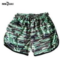 New Fashion Brand Camouflage Men Gyms Shorts Fitness Summer Bodybuilding Short Pants Kneel Length Beach Pants