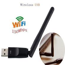 150Mbps Ralink RT5370 Wireless Network Card Mini USB 2.0 WiFi Adapter Antenna PC LAN Wi-Fi Receiver