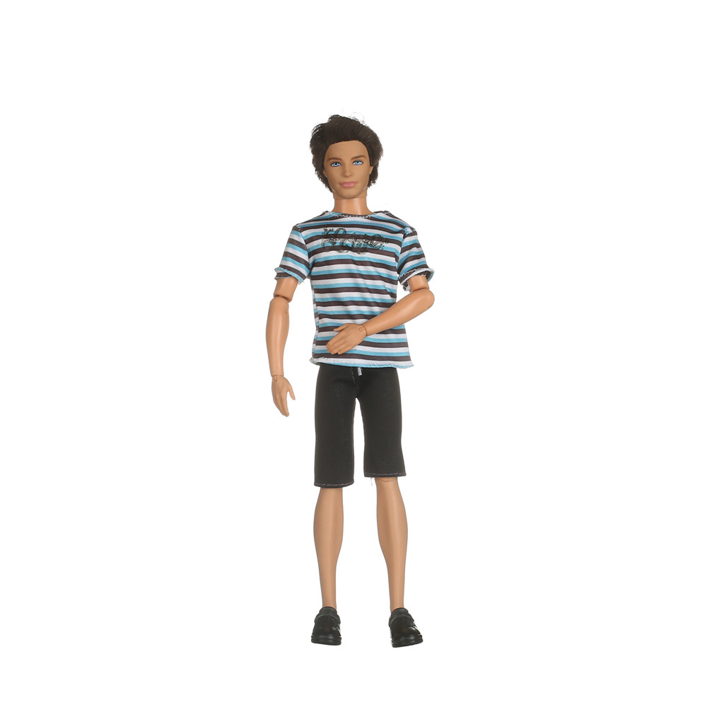 1 Set Ken Doll's Garments Males Cool Informal Swimsuit Prince Trend Put on Outfit For Barbiee Pal Ken Doll Greatest Reward Toys AB45