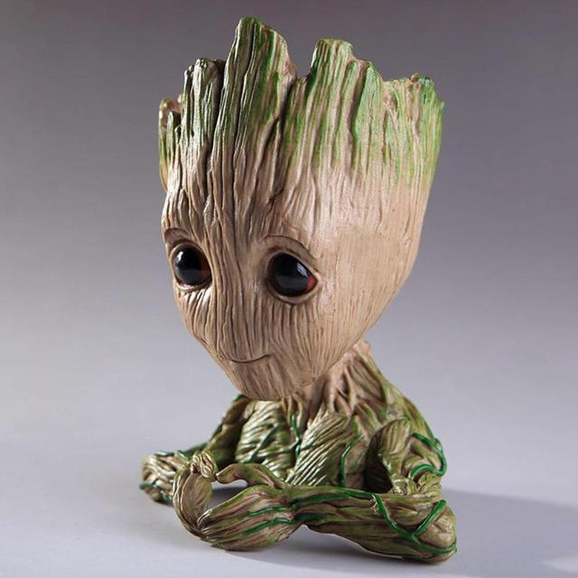 Baby Cool Tree Action Figures Groot Flower Planter Infant Hero Model Vessel Toy Pen Pot Cute Funny Tree doll Action Figures Gift