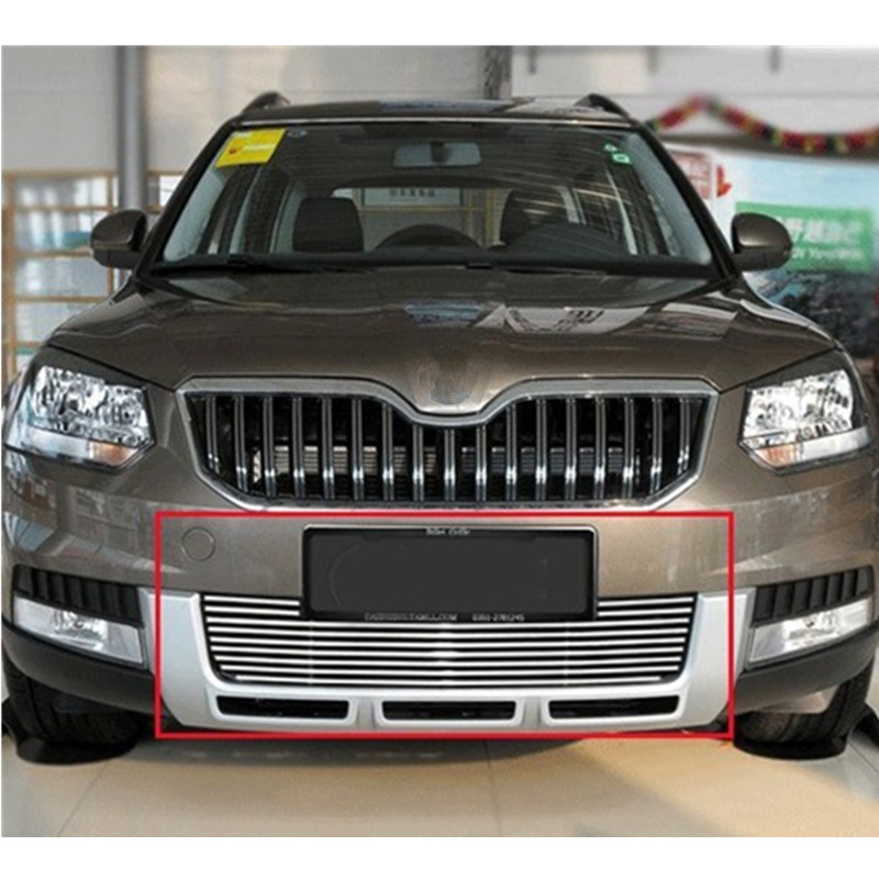High quality stainless steel Front Grille Around Trim Racing Grills Trim For 2013 Skoda Yeti plus open front tassel trim kimono