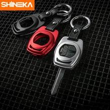 SHINEKA Car Styling Unique Design Aluminium Alloy Key Case Metal Chain Shell Cover for Suzuki Jimny