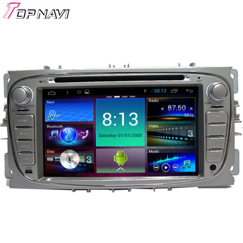 Quad Core Android 4 4 Car DVD Stereo for Focus 2011 With 16GB Flash Mirror Link