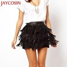 JAYCOSIN, модная женская Праздничная летняя юбка на молнии с кисточками, высокая талия, вечерние мини-юбки для сцены, женские юбки, Прямая поставка, 18 июля