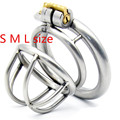 Stainless Steel Arc-shaped Cockring Male Chastity Device Cock Cage Sex Toys for Men Penis Lock Metal Small Chastity Cages G175