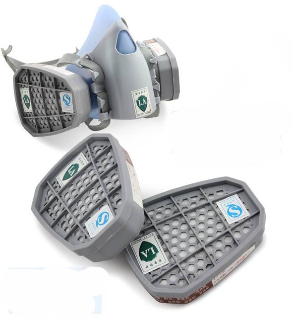 Máscara de filtro de carbono de alta Calidad de Silicona multifunción pesticidas de pulverización de pintura respirador máscara de gas industrial de seguridad protect mask