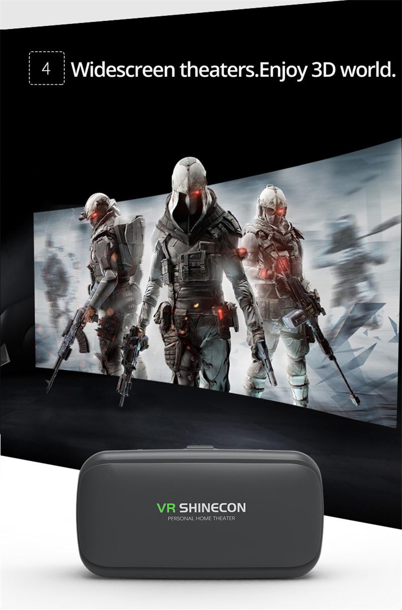 Original VR shinecon 6.0 headset version virtual reality glasses 3D glasses headset helmets smart phones Full package+GamePad 20