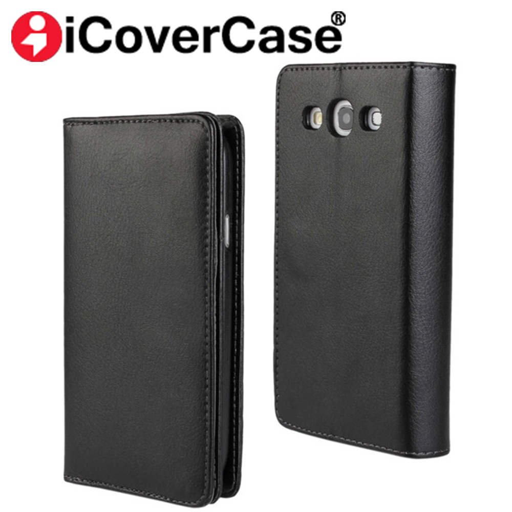 S6 S7 Edge Luxury Genuine Leather Wallet Flip Case For Samsung Galaxy S3 Duos S5 Neo Note 3 Note4 Magnet Phone Cover with Stand