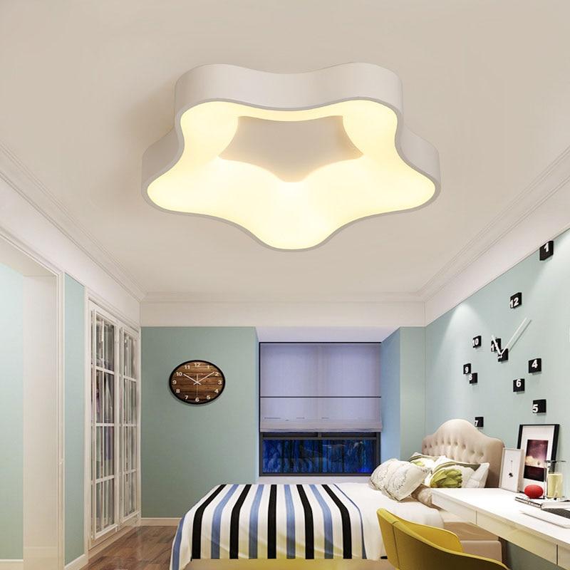 Cute Cartoon Starfish Led Ceiling Lamp Children Room Ceiling Light Creative Acrylic Ceiling Lamp For Bedroom Baby Room Lighting Lights & Lighting Ceiling Lights & Fans