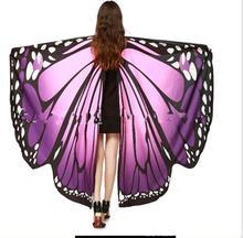Wholesale Butterfly Wing Pashmina Women Scarves New Designer 5 Colors Fashion Print Wraps Female Scarves And Shawls Gifts butterfly wing cape pashmina