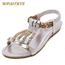 Exquisite weibliche Sandalen Schuhe mit Mode Schuhe Gold Silber schwarz drei Farben Optional Metall Schnalle Strass Keil Schuhe