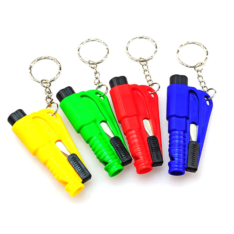 Small Self Defense Glass Breaking with Keychain Seat Belt Knife Cutter Outdoor Sports Safety Hammer Emergency Rescue AccessoriesSmall Self Defense Glass Breaking with Keychain Seat Belt Knife Cutter Outdoor Sports Safety Hammer Emergency Rescue Accessories