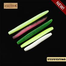8pcs/lot 3 5.3g SENKO Softbait Bass Fishing Lures Worms Stickbaits No Sinker Rig 75mm