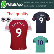 16c3bad8a8e AAA+ Arsenal soccer jersey 2018 2019 AUBAMEYANG MKHITARYAN OZIL JERSEY 18  19 adult LACAZETTE TORREIRA football