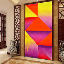 5D DIY Diamond embroidery geometric abstraction TV backdrop pictures Home Decor Fully Resin round rhinestone needlework Painting