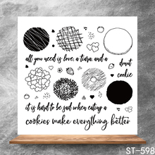 Delicious cookies Transparent Clear Stamps DIY Scrapbooking Album Card Making Decoration Embossing Stencil