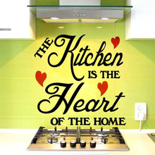 Vinyl DIY The Kitchen Is Heart Of Home Wall Decal art quotes wall stickers  decoration Large Size 60x60CM