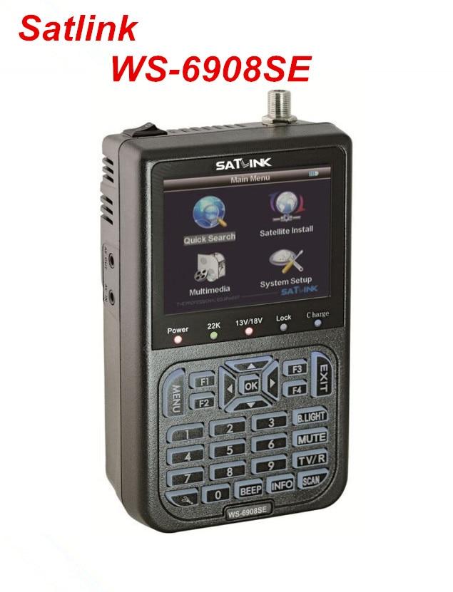 Original Satlink WS-6908SE Digital Satellite Finder Support KB-LIGHT & BACKLIGHT Satellite Meter satlink ws 6908 dvb s digital satellite finder meter ws6908