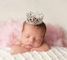 Baby Party Costume Tiara Princess Rhinestone Crown Newborn Photography Props For Studio Shooting Headband fotografia