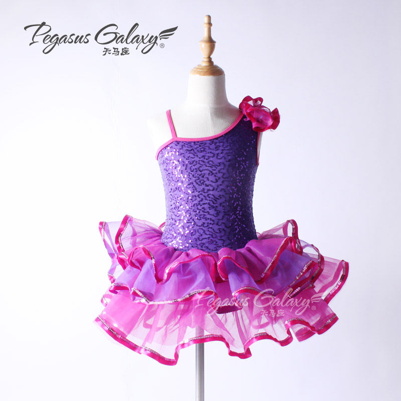 Sequins Sloping Romantic Ballet Tutu Skirt Dancewear Kids Classical Ballet Costume Children Ballet Dress Girls Ballerina Clothes