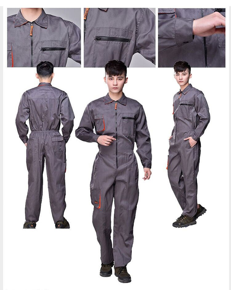 Work overalls men women protective coverall repairman strap jumpsuits trousers working uniforms Plus Size sleeveless coveralls (2)