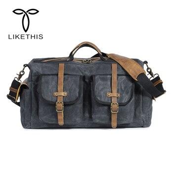 Travel Bag Large Capacity Men Hand Luggage Travel Duffle Bags Canvas Weekend Bags Multifunctional Travel shoulder Bags
