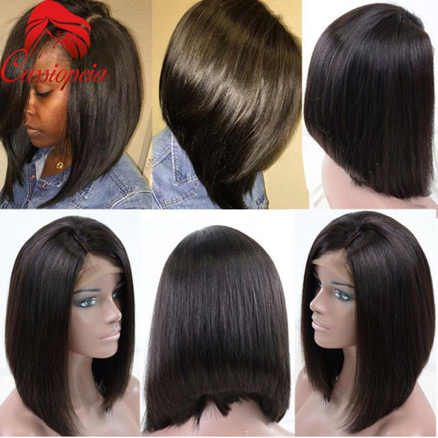 New bob human hair wigs left side part natural style short bob new bob human hair wigs left side part natural style short bob virgin hair full lace pmusecretfo Image collections