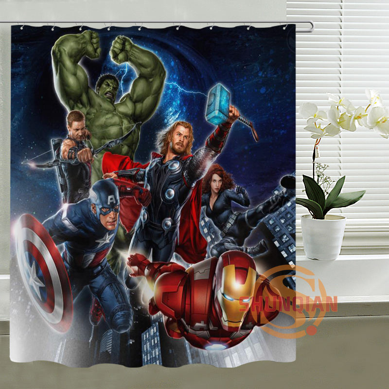 Aliexpress.com : Buy Bathroom Polyester Fabric Bath Curtain Printed Marvel,  Deadpool, Hulk Cool Pictures Shower Curtain From Reliable Shower Curtain ...